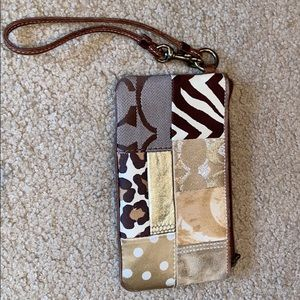 COACH WRISTLET ADORABLE -LEATHER AND CLOTH